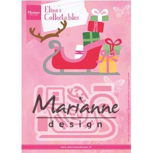 Marianne Design Snijsjablonen, de slee van Eline