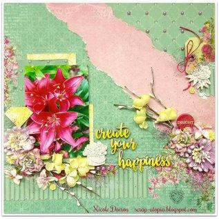 Prima Marketing und Petaloo 3 tallos de flor de cerezo, color marfil