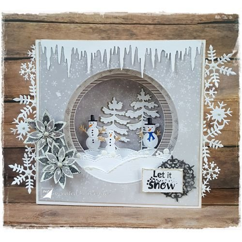 Joy!Crafts / Jeanine´s Art, Hobby Solutions Dies /  Cutting dies: Vrolijk Sneeuwpoppen