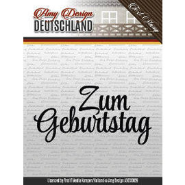 "AMY DESIGN Stempel motiv, Transparent:Text deutsch ""zum Geburtstag"""
