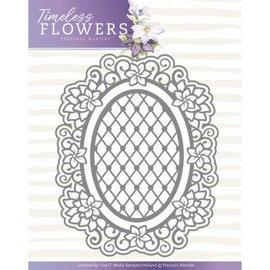 Precious Marieke Punzones de perforación, flores intemporales, óvalo de Clematis