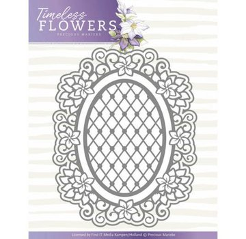 Precious Marieke cutting Dies, Timeless Flowers, Clematis Oval