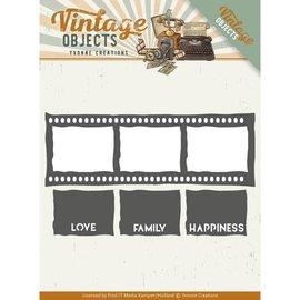 Precious Marieke Punzonado de plantillas, Vintage Film Strip
