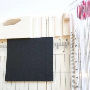 Karten und Scrapbooking Papier, Papier blöcke 10 vellen linnen karton 250 GSM, zwart, 30 x 30 cm!