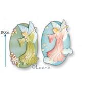 Leane Creatief - Lea'bilities und By Lene Stansning og prægning skabelon: fe / Angel