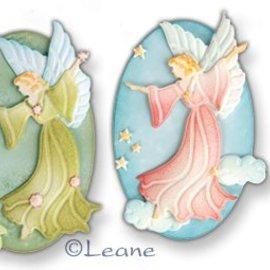 Leane Creatief - Lea'bilities und By Lene Snij en embossing mall: Fairy / Angel