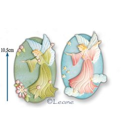 Leane Creatief - Lea'bilities und By Lene Snij en embossing mall: Fairy / Angel