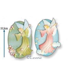 Leane Creatief - Lea'bilities und By Lene Troquelado y estampado en relieve plantilla: Hada / Ángel