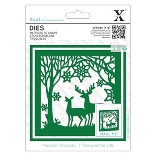 Docrafts / X-Cut cutting dies, frame, forest with reindeer