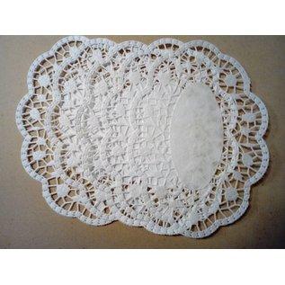 Embellishments / Verzierungen Kanten kleedje met roosjes in reliëf, 10 stuks