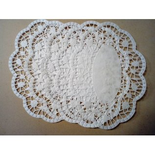 Embellishments / Verzierungen Lace doily with rose embossing, 10 pieces