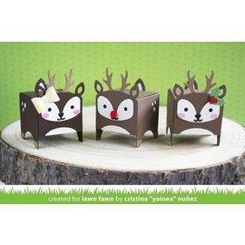 Elisabeth Craft Dies , By Lene, Lawn Fawn Modelli di punzonatura, scatola sotto forma di renna