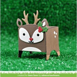 Elisabeth Craft Dies , By Lene, Lawn Fawn Cutting dies, box in the form of a reindeer