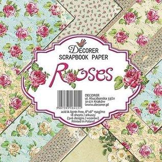 Karten und Scrapbooking Papier, Papier blöcke Cartões e Papel Scrapbook, 20 x 20 cm, Design de rosas
