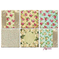 Cards and Scrapbooking Paper, 20 x 20 cm, Roses Design