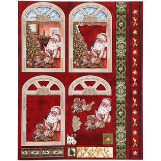 Bilder, 3D Bilder und ausgestanzte Teile usw... 16 gestanste kerstmis-motieven uit glanzend papier met glitter!