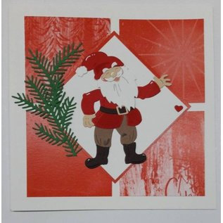 Elisabeth Craft Dies , By Lene, Lawn Fawn Modelos de perfuração, Papai Noel