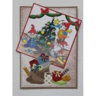 Elisabeth Craft Dies , By Lene, Lawn Fawn Plantillas de perforación, bolsa de Navidad y regalos