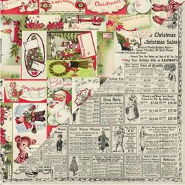 Prima Marketing und Petaloo Cards and scrapbooking paper block, Christmas motives