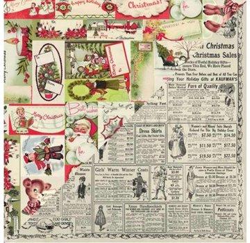 Prima Marketing und Petaloo Cards and scrapbooking paper block, Christmas motives