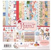 Prima Marketing und Petaloo Karten und Scrapbook Papier, mit nostalgischen Muster