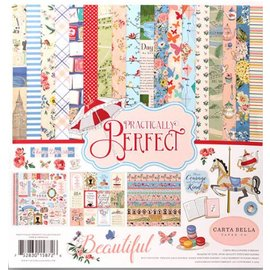 Prima Marketing und Petaloo Cards and scrapbooking paper block, with nostalgic patterns