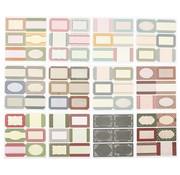 Embellishments / Verzierungen Plakboek en kaartenstickers met 72 etiketten, etiketten, stickers