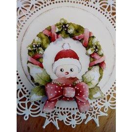 Bilder, 3D Bilder und ausgestanzte Teile usw... juego de Navidad, 1 hoja precortada, A4