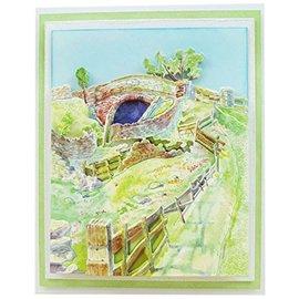Tattered Lace Snijsjablonen, Seasonal Trio Collection, Over the Bridge