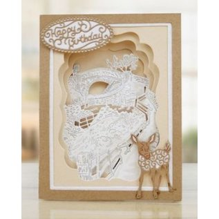Tattered Lace Cutting dies, Seasonal Trio Collection, Over the Bridge