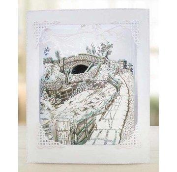 Tattered Lace Stencil, Collezione Trio stagionale, Over the Bridge
