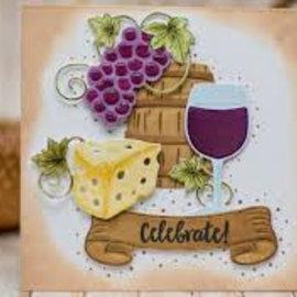 Spellbinders und Rayher Gabarits de découpe, aptitude à l'utilisation, breloques à vin (S5-347)