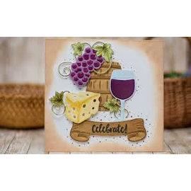 Spellbinders und Rayher Plantillas de corte, Shapeabilities, encantos de vino (S5-347)