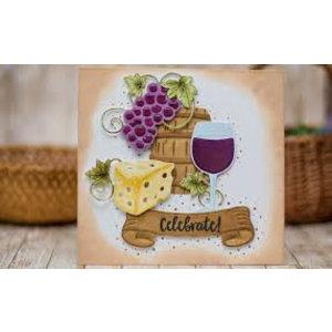 Spellbinders und Rayher cutting dies, Shapeabilities, Wine Charms (S5-347)