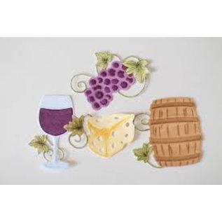 Spellbinders und Rayher Modelos de corte, Shapeabilities, Encantos do Vinho (S5-347)