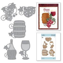 Spellbinders und Rayher Snijsjablonen, Shapeabilities, Wine Charms (S5-347)