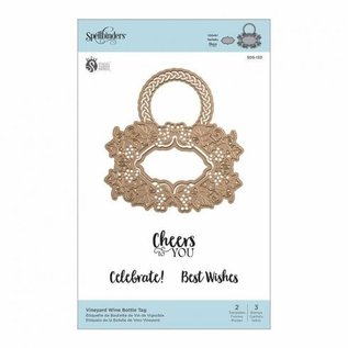 Spellbinders und Rayher cutting dies, Shapeabilities, Spellbinders Vineyard Wine Bottle Tag (SDS-133)