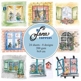 Bilder, 3D Bilder und ausgestanzte Teile usw... Toppers Windows, 9 x 9 cm, 24 billeder