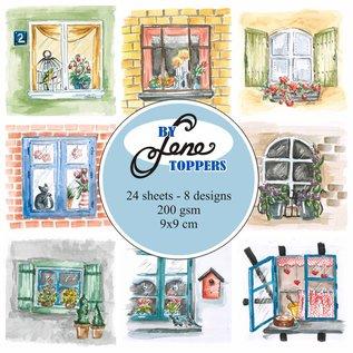 Bilder, 3D Bilder und ausgestanzte Teile usw... Toppers Janelas, 9 x 9 cm, 24 imagens