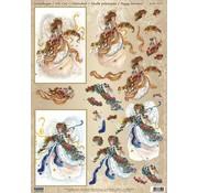 Bilder, 3D Bilder und ausgestanzte Teile usw... A4 Bogen mit 2 Motive,  herrliche 3D Engel