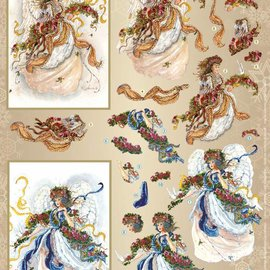 Vintage, Nostalgia und Shabby Shic A4 Bogen mit 2 Motive,  herrliche 3D Engel
