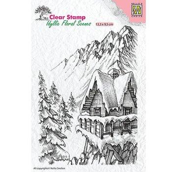 Stempel / Stamp: Transparent Stamp motif, banner: Winter scene