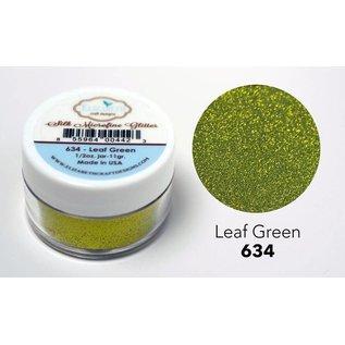 Taylored Expressions Glitter in microfine di seta, verde in foglia