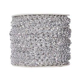 Embellishments / Verzierungen Stars deco ribbon in silver, meter goods