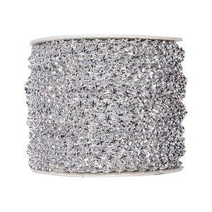Embellishments / Verzierungen Sterren deco lint in zilver. Indien gewenst 1 meter GRATIS tijdens het winkelen