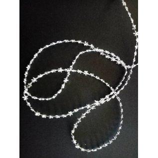 Embellishments / Verzierungen Sterren deco lint in zilver