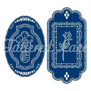 Tattered Lace Ponsen stencils, vintage labels (labels) beperkt!
