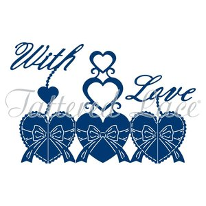 Tattered Lace cutting dies, Harmony With Love