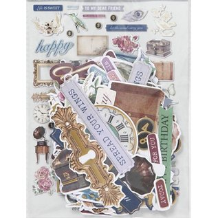 Embellishments / Verzierungen Vintage Embellishments, 138 parts!