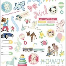 Vintage, Nostalgia und Shabby Shic Baby Embellishments, 96 Teile!